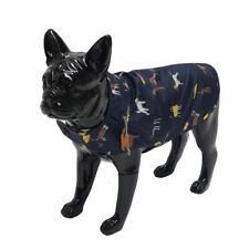 Joules Dog Coat Water Resistant Size Medium Navy Blue With Motif