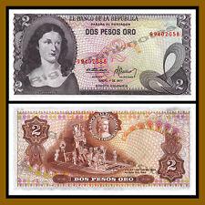 Colombia 2 Pesos Oro, 1977 P-413b Unc