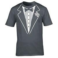 Tuxedo T-SHIRT Suit Prom Tie Wedding Bowties Costume Fancy birthday fashion gift