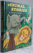 1968 ANIMAL STORIES BY WILLIAM JOHNSTON WHITMAN USA IN 4 TBE ILLUSTRE COULEUR