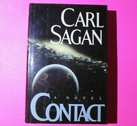 Contact by Carl Sagan 1985 First Edition 1st Print Hardcover Dust Jacket Sci-Fi