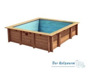 Holzpool Bali 200x200 cm + ZUBEHÖR Schwimmbecken Swimmingpool Schwimmbad
