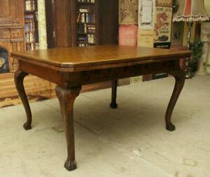 antiker Jugendstil Esstisch - Vintage Tisch ausziehbar - Tatzenfüße - 19.Jh.