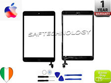 iPad Mini 1/2 1 2 Black White Touch Screen Digitizer Glass IC Chip + Home Button