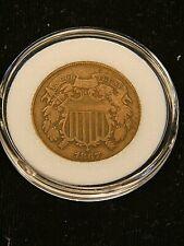 1867 Two Cent Piece VF Bronze in Airtight cap #AH104