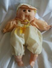 "2003 Uneeda Doll Plush Body Plastic Head Hands Feet 20"" Toy"