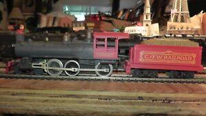 RARE HO Tyco Mantua Hooterville Cannonball C.&F.W. Railroad 4-6-0 Vintage Repair