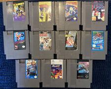Nintendo NES Lot Of 11 Games. SOLOMAN'S KEY, EXCITEBIKE, Etc. AUTHENTIC • TESTED