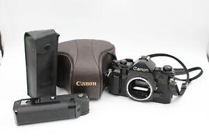 Canon A-1 SLR FILM CAMERA Body Only w/ Original Case & Canon Power Winder A