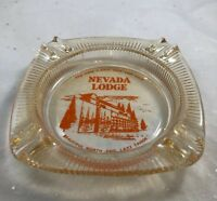 Vintage Ashtray Nevada Lodge North End Lake Tahoe Date with Lady Luck