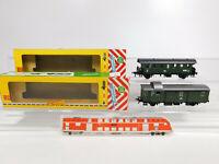 CM955-0,5# 2x Fleischmann H0/DC Personen-/Gepäckwagen DB: 1554 + 1556, NEUW+OVP