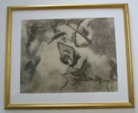 HAROLD DAVIES (B.1891) CALIFORNIA VINTAGE ABSTRACT MODERN EXHIBITED DRAWING