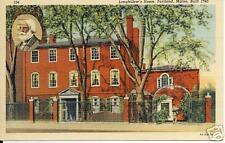 Longfellow's Home, Portland, Maine 1949 postcard