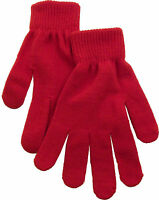 Men Women Winter Warm Soft High Quality Solid Knitted Mittens Gloves