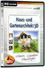 HAUS- UND GARTENARCHITEKT 3D  WinXP NEU&OVP LIEFERBAR