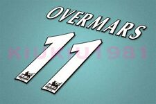 Arsenal Overmars #11 PREMIER LEAGUE 97-06 White Name/Number Set