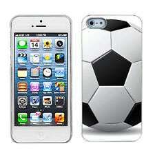 SLIM-FIT Hard Cover Case + SCREEN PROTECTOR for Apple iPhone 5 Soccer