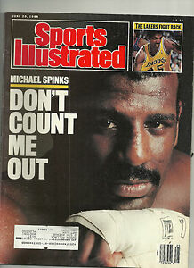 SPORTS ILLUSTRATED LOT OF 2 6/26/88 & 9/30/85 MICHAEL SPINKS ON BOTH COVERS