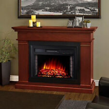 23 Inch Inset/Freestanding LED Fireplace Heater Red Brick Effect +Remote Control