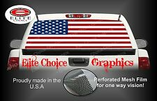 American Flag Flat Rear Window Graphic Decal Sticker Truck Car SUV