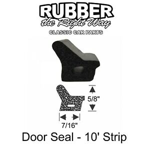 1961 1962 1963 Lincoln Continental Door Seal - Enough For All 4 Doors