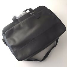 Coach Hamilton 24 Hours Black Smooth Leather Commuter Laptop Briefcase F72224