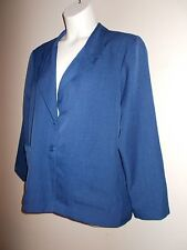 Blair NWOT Womens Size 18 PT Lined Solid Blue Blazer Long Sleeves