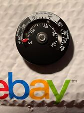 Wood Stove Temperature Gauge Thermometer Flue Pipe Magnetic (White & Black)