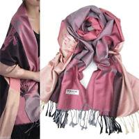 New Fashion Women's Lotus Flower 100% Cashmere Pashmina Scarf Wrap Shawl Stole