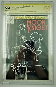 Moon Knight #25 9.4 1982 Graded CBCS Not CGC Signed and Sketch Witnessed Bill S.