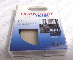 52mm Japan 81A 81-A Warming Lens Glass Filter Pleasant tone 52 mm Quantaray