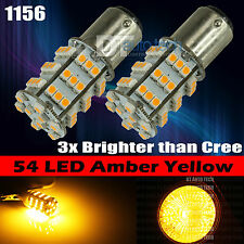 2X 1156 High Power Amber SMD Turn Signal Blinker Indicator LED Light Bulbs