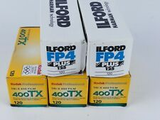 GENUINE KODAK 400TX 120 FILM AND ILFORD FP4 120 FILM EXPIRED U14