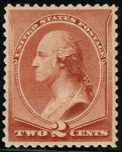 #210* 2c red brown 1883 VF,OG Scott $45