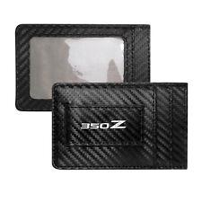Nissan 350Z Black Carbon Fiber Leather Wallet RFID Block Card Case Money Holder
