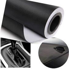 "DIY 3D Black Decal Carbon Fiber Vinyl Wrap Film Sheet Sticker 12x60""/30x152CM"