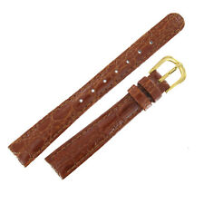 Hadley Roma LS919 14mm Brown Shiny Crocodile Grain Ladies Watch Band