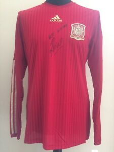 Spain Home Player Issue Spec Adizero Shirt Signed By Pepe Reina With Guarantee