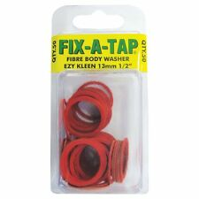 """50pc Fix-A-Tap Ezy Kleen Fibre Body Washer 13mm (1/2"""" inch)"""