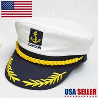 Adjustable Navy Marine Yacht Boat Ship Sailor Captain Fancy Costume Hat Cap TEUS