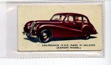 (Jd6261) KELLOGGS,MOTOR CARS,COLOUR,LEA-FRANCIS SALOON,1949,#27