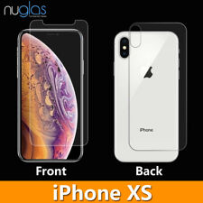 Nuglas Tempered Glass Screen Protector Guard Front and Back for Apple iPhone X