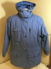 Obermeyer Parka Ski Jacket Coat Womens Hooded Blue Thermolite Size 10 Free Ship!