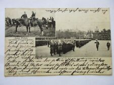 Ak Metz Parade Königl. Sächs. Fussartillerie Regiments No. 12 Kaiser König 1903
