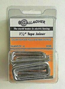 """Gallagher 1.5"""" Tape Joiner Splice Buckle for Polytape Electric Fence H105 NEW"""
