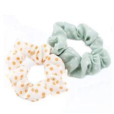10pcs Girl Elastic Scrunchie Dot Print Ponytail Holder Hair Band Rope