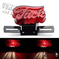 Street Fighter Tail Light License Plate Brake Lamp For Harley Old School Chopper