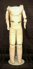 Very Nice Antique Leather Doll Body w/ Antique Bisque Lower Arms