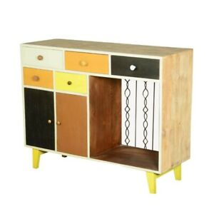 Made to Order Vivid Indian Mango Wood Freestanding Small Storage Cabinet