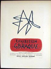 Vintage Lithographs, Kunst Im Plakat, Georges Braque, Mourlot 1959, France #1942